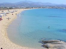 Agios Prokopios Beach in Naxos Greece