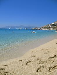 Agios Prokopios Beach in Naxos Island Greece